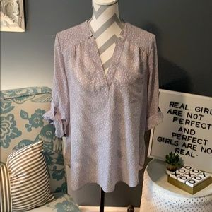 Maurices gray blouse size Large